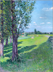 Gallery print  Petit Gennevilliers from the 'Aumone Graben' - Gustave Caillebotte