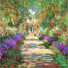 Wall sticker  A Pathway in Monet's Garden - Claude Monet