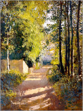 Wall sticker  Path under trees - Gustave Caillebotte