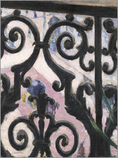 Wall sticker  View through balcony grill - Gustave Caillebotte