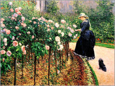 Gallery print  Roses in the garden - Gustave Caillebotte