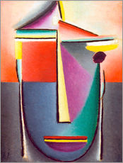 Wall sticker  Abstract head: Life and death - Alexej von Jawlensky