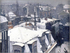 Wall sticker  Rooftops in the snow - Gustave Caillebotte