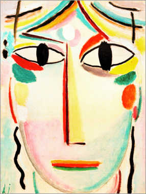 Aluminium print  Face of the Saviour - Alexej von Jawlensky