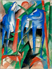 Gallery Print  Creation of the horses (three Fabeltiere) - Franz Marc