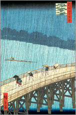 Gallery print  Ohashi bridge in the rain - Utagawa Hiroshige