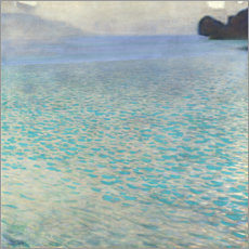 Aluminium print  On Attersee lake - Gustav Klimt