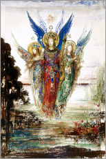 Gallery print  Job and the Angels - Gustave Moreau