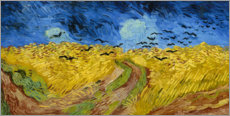 Wood print  Wheatfield with crows - Vincent van Gogh
