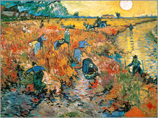 Wall sticker  The red vineyard - Vincent van Gogh