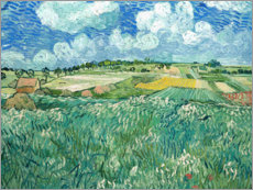 Acrylic print  Plain near Auvers with rain clouds - Vincent van Gogh