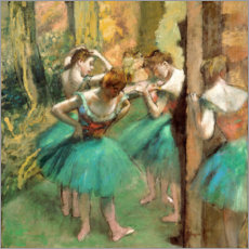 Foam board print  Dancers in Pink and Green - Edgar Degas