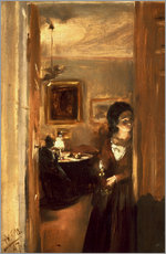 Wall sticker  Living room with Menzels sister - Adolph von Menzel