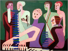 Wall sticker  Singer at the piano - Ernst Ludwig Kirchner