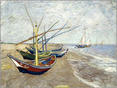 Wall sticker  Fishing boats on the beach, Saintes-Marie-de-la-Mer - Vincent van Gogh