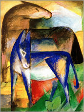 Wall Stickers  Two blue donkeys - Franz Marc