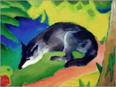 Canvas print  Blue black fox - Franz Marc