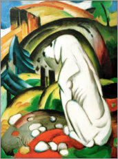 Foam board print  The white dog - Franz Marc