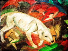 Franz Marc - Dog, cat, fox