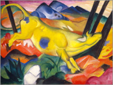 Foam board print  The yellow cow - Franz Marc