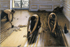 Wall sticker  The parquet planers - Gustave Caillebotte
