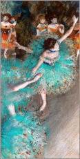 Canvas print  Green Dancers - Edgar Degas