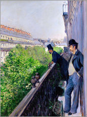 Gallery print  Balcony on Boulevard Haussmann - Gustave Caillebotte
