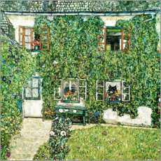 Wood print  Forester's house in Weissenbach on Attersee lake - Gustav Klimt