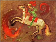 Gallery print  Knight George and dragon - August Macke