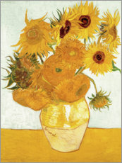 Foam board print  Vase with Sunflowers - Vincent van Gogh