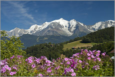 Gallery print  View from the village of Cordon to Mont Blanc Massif, France - Frauke Scholz