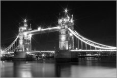 Wall sticker  Tower Bridge by Night sw - Melanie Viola