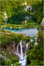 Wall sticker  Waterfall Paradise Plitvice Lakes - Andreas Wonisch
