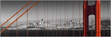 Gallery print  Golden Gate Bridge Panoramic - Melanie Viola