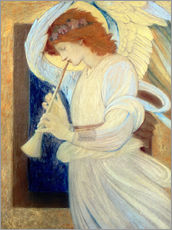 Gallery print  An Angel Playing a Flageolet - Edward Burne-Jones