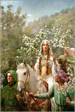 Wall sticker  Queen Guinevere's Maying - John Collier