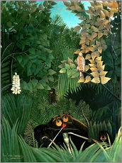 Wall sticker  The monkeys - Henri Rousseau