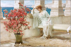 Gallery print  Her eyes are with her thoughts and they are far away - Lawrence Alma-Tadema
