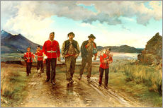 Wall sticker  'Listed for the Connaught Rangers': Recruiting in Ireland, 1878 - Lady Butler