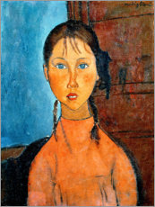 Wall sticker  Girl with Pigtails - Amedeo Modigliani