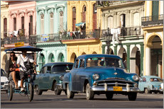 Wall sticker  classic us cars in havanna, cuba - Peter Schickert