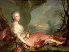 Gallery print  Maria Adelaide of France as Diana - Jean-Marc Nattier