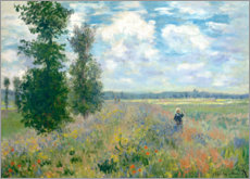 Aluminium print  The Poppy field - Claude Monet