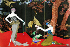 Wall sticker  Fashion for Lacquer, engraved by Henri Reidel, 1920 - Georges Barbier