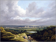 Wall sticker  View of Oxford from a Distance - Joseph Mallord William Turner