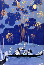 Wall sticker  Fireworks in Venice, Fetes Galantes - Georges Barbier