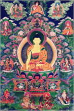 Wall sticker  Buddha Shakyamuni with eleven figures - Tibetan School