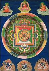 Wall sticker  Thangka of the mandala of Chakrasamvara - Tibetan School