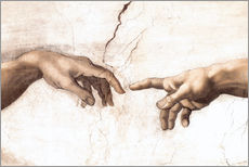 Gallery print  The Creation of Adam (detail of hands) - Michelangelo