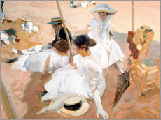 Wall sticker  Under the Parasol, Zarauz - Joaquin Sorolla y Bastida
